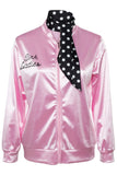 Women Pink Lady Jacket Retro Grease Christmas Costume