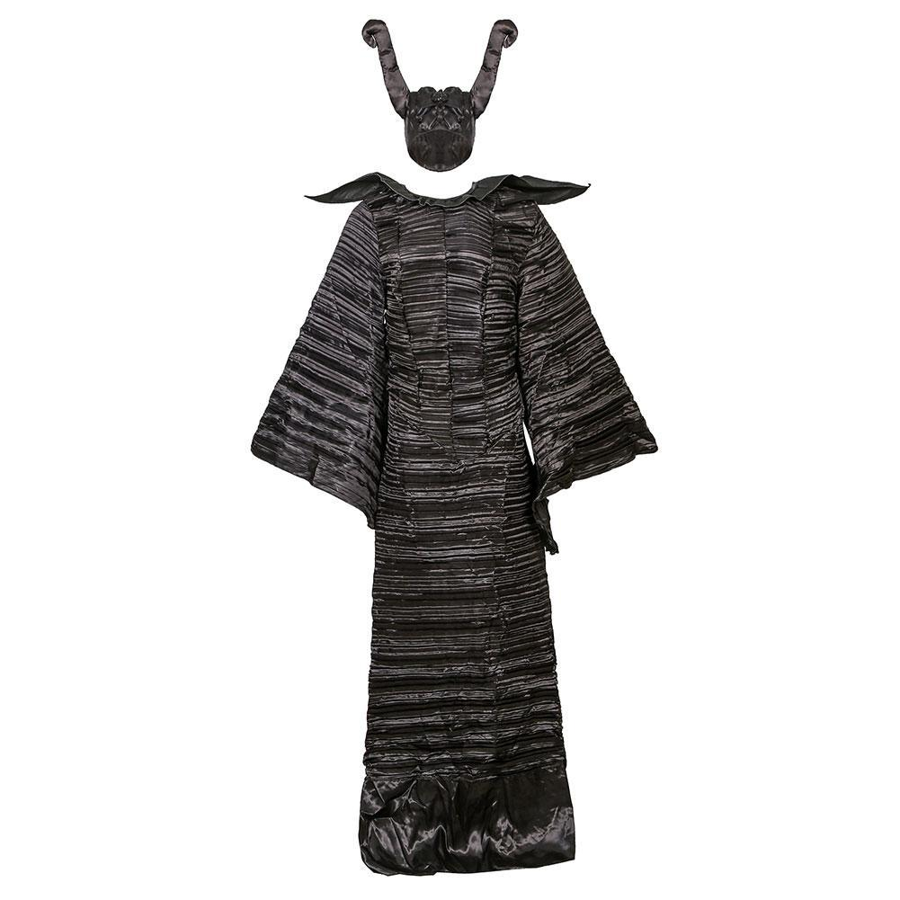 Women Halloween Maleficent Cosplay Costume Witch Suit Dark Queen Dress Uniform Party Carnival Black Dress