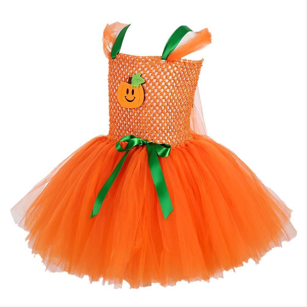 Girls Halloween Tutu Dress Costumes Toddler Pumpkin Ghosts Ball Gown Dress Children Clothing Kids Carnival Party Princess Dress