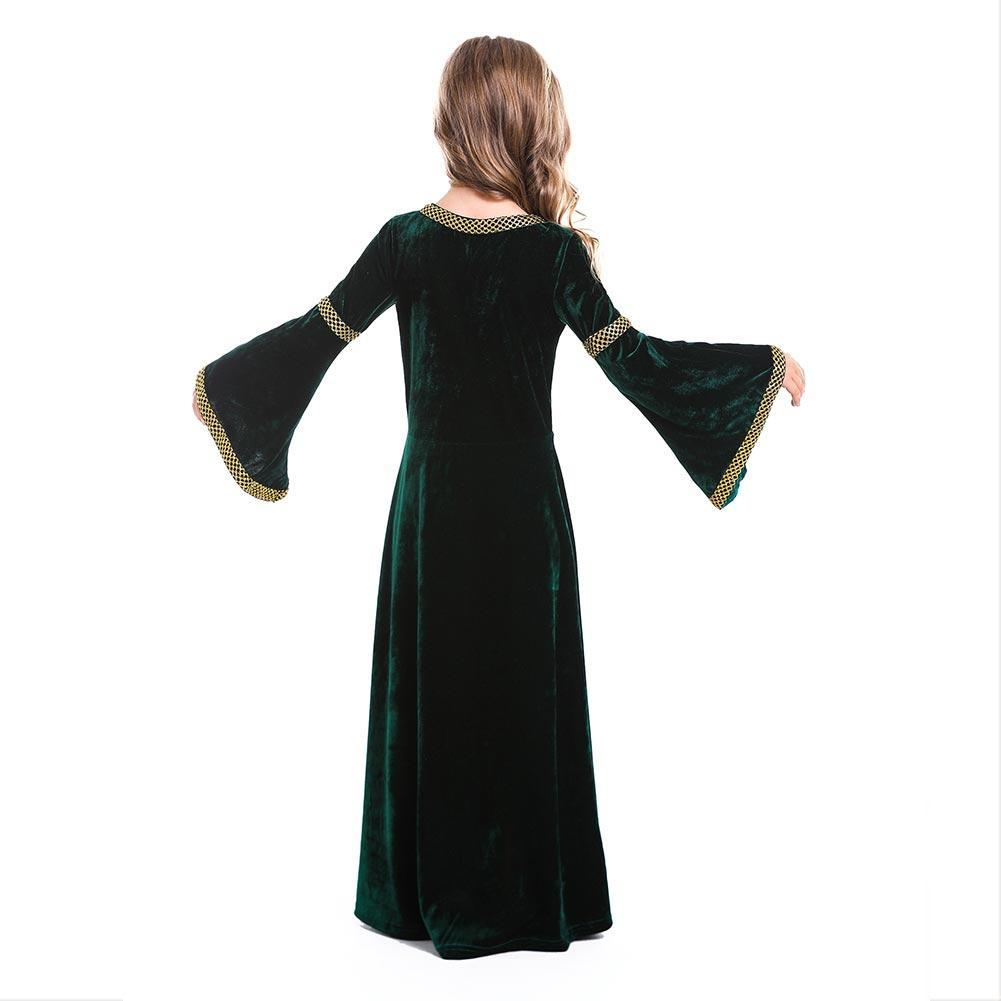 Girls Medieval Court Dress Costumes Cosplay Retro Gown Fancy Victorian Vintage Dresses