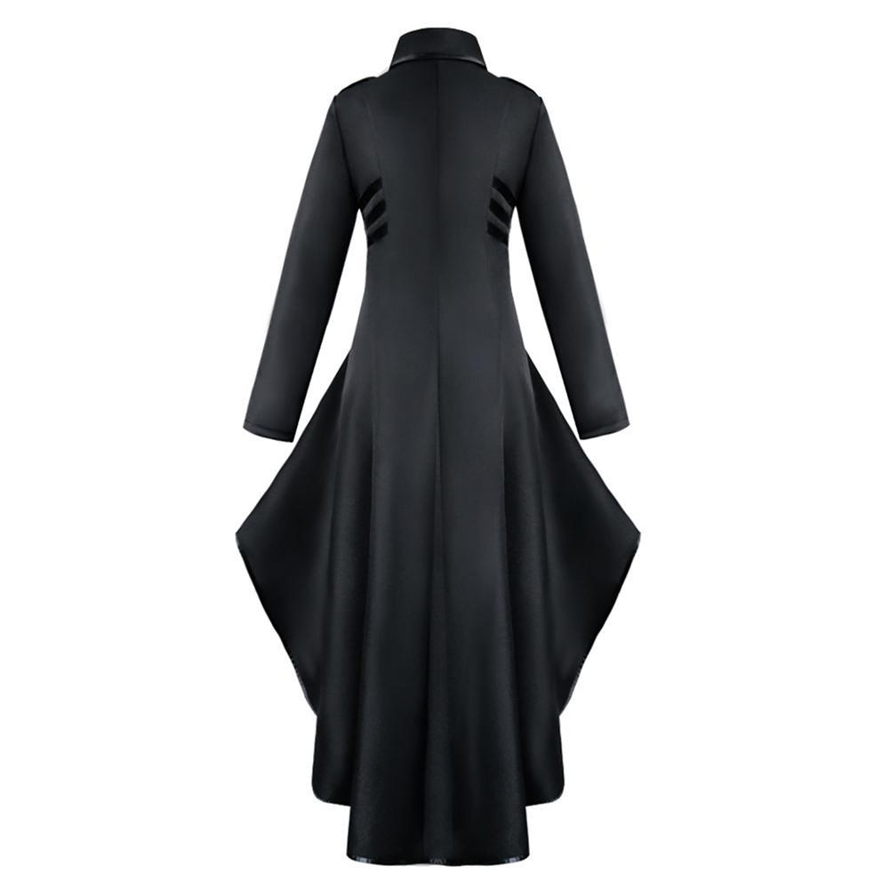 Women Gothic Medieval Irregular Hemline Long Sleeve High Waist Tuxedo Ladies Vintage Halloween Cosplay Costume
