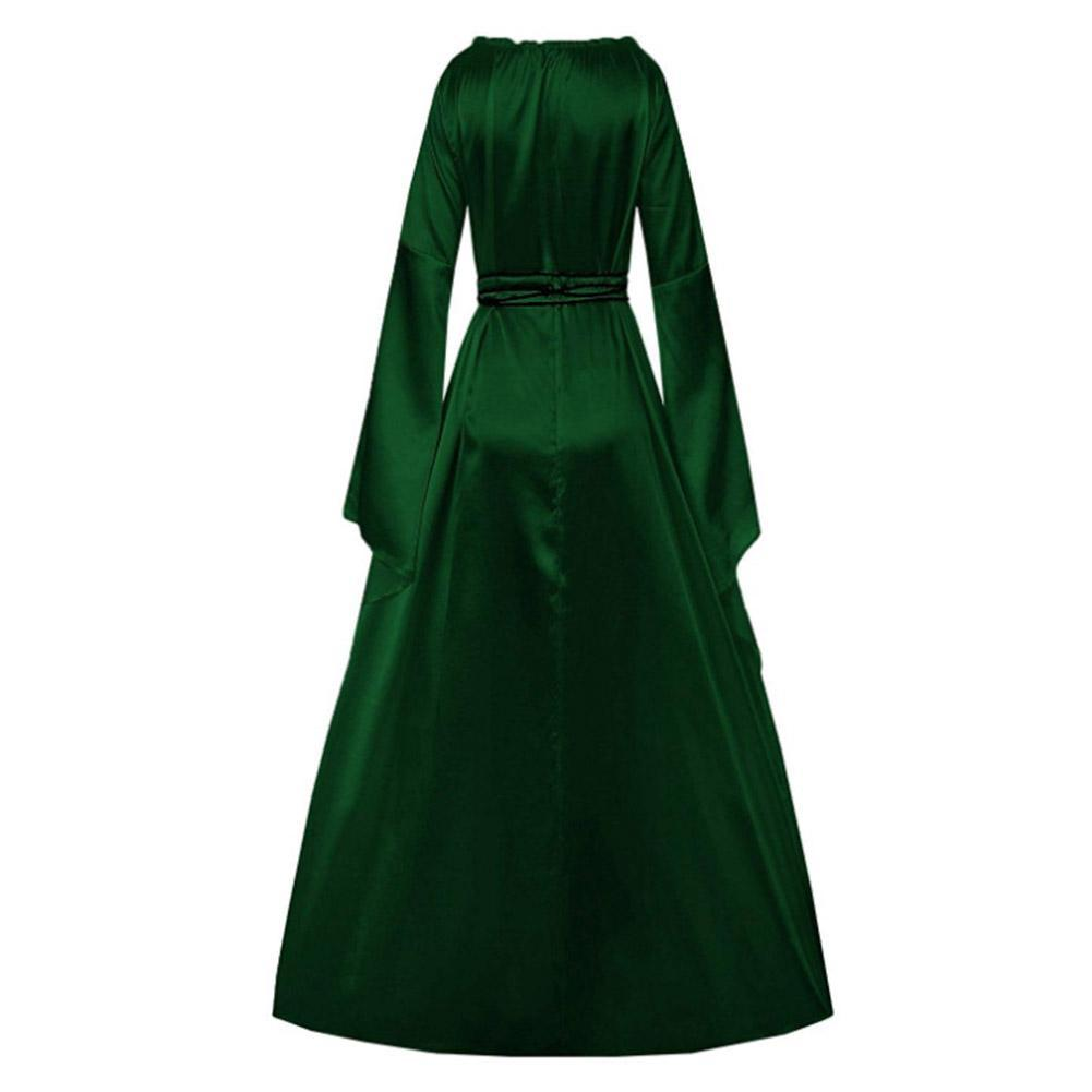 Women Renaissance Costumes Medieval Irish Over Dress Victorian Retro Gown Cosplay