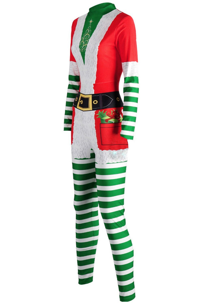 Women Mrs. Santa Christmas Performance Jumpsuit