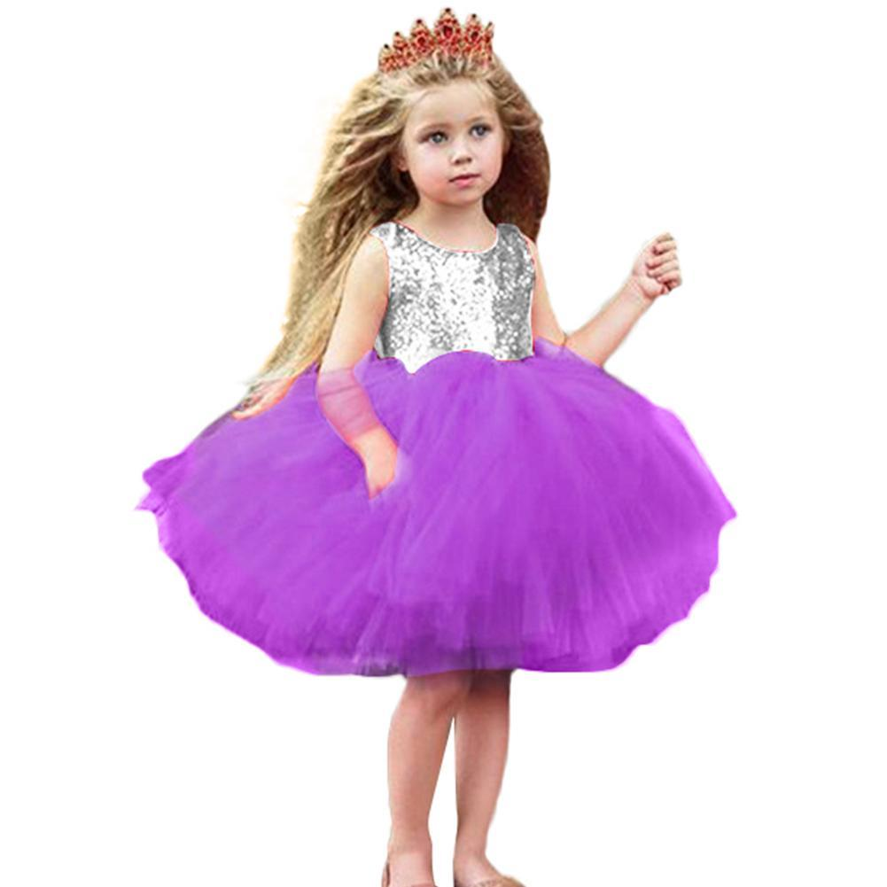Baby Girls Sequins Mesh Princess Pageant Wedding Birthday Party Tutu Dress