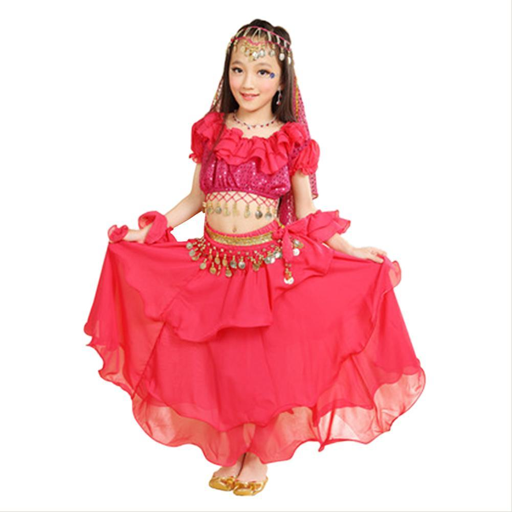 Girls Indian Dance Outfit Halloween Costumes Belly Dance Costume Bollywood Dress