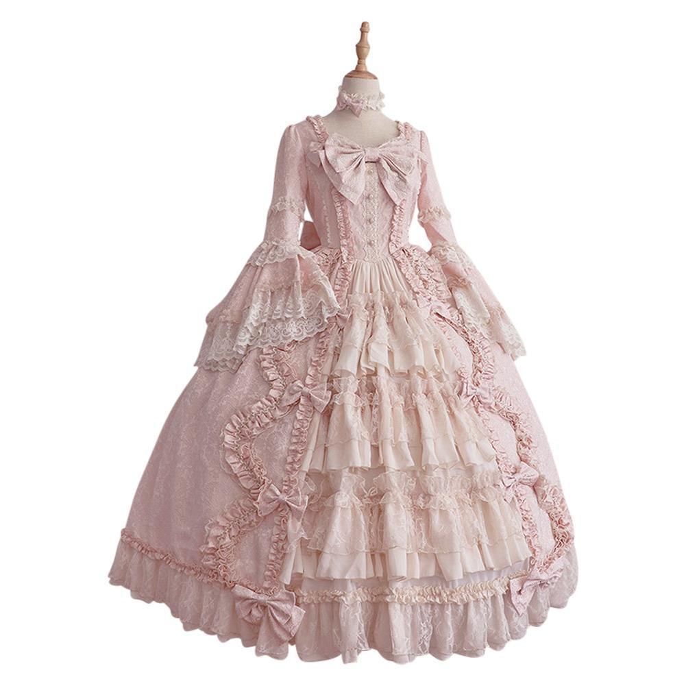 Women Deluxe Princess Costume Lolita Prom Gown Wedding Dresses Evening Gown Quinceanera Dress