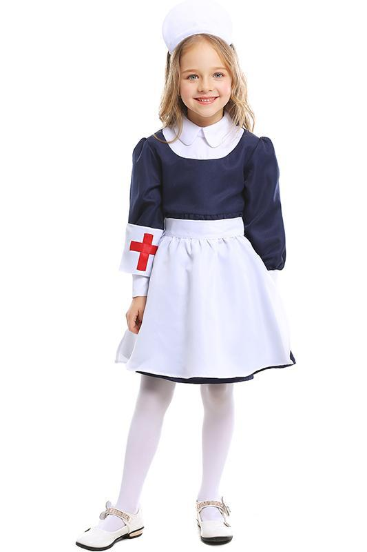 Nurse Uniform Cosplay Costume for Kids Little Girls