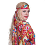 Women Hippie Groovy Lady Retro Costume Halloween 1960s Stage Performance Outfit
