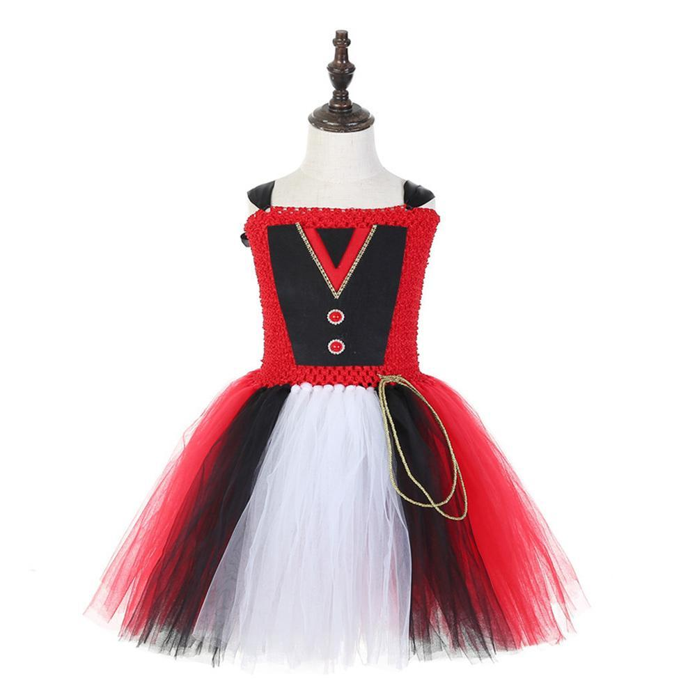 Girls Party Dress Ringmaster Costume Halloween Stage Performance Tutu Dress