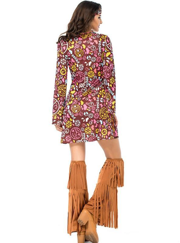 Fringed Hippie Costume Indian Halloween Costume
