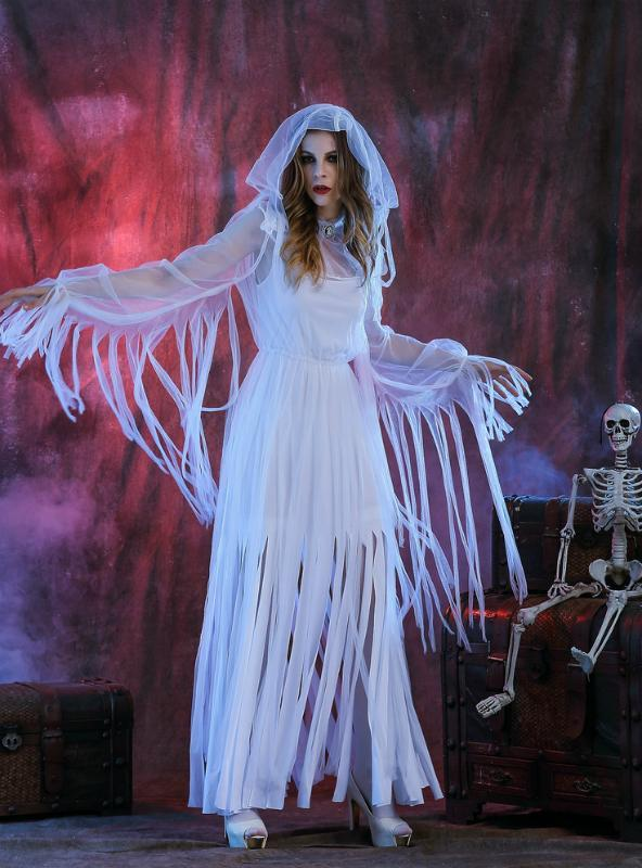 Egyptian Ghost Bride Halloween Tassel White Ghost
