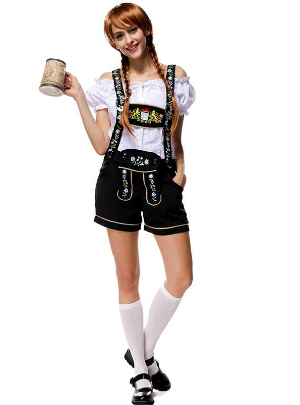 German Beer Suit Suspenders Trousers Beer Suit