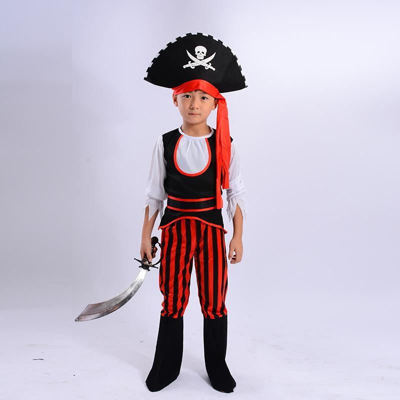 Kids Halloween Pirates Costumes Dance Performance Clothing Baby Cosplay Pirates Children Clothing
