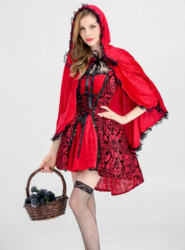 Little Red Riding Hood Performs Halloween Cosplay