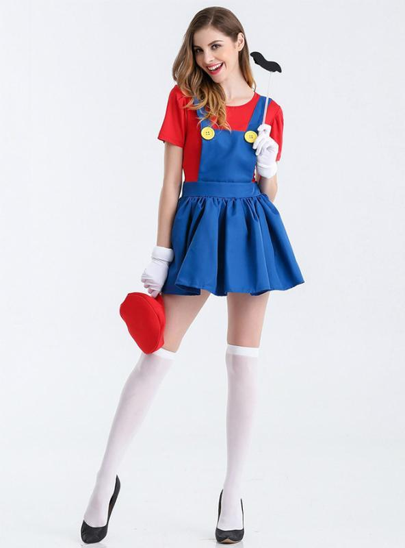 Film Role-Playing Dress Back Pants Mario Skirt