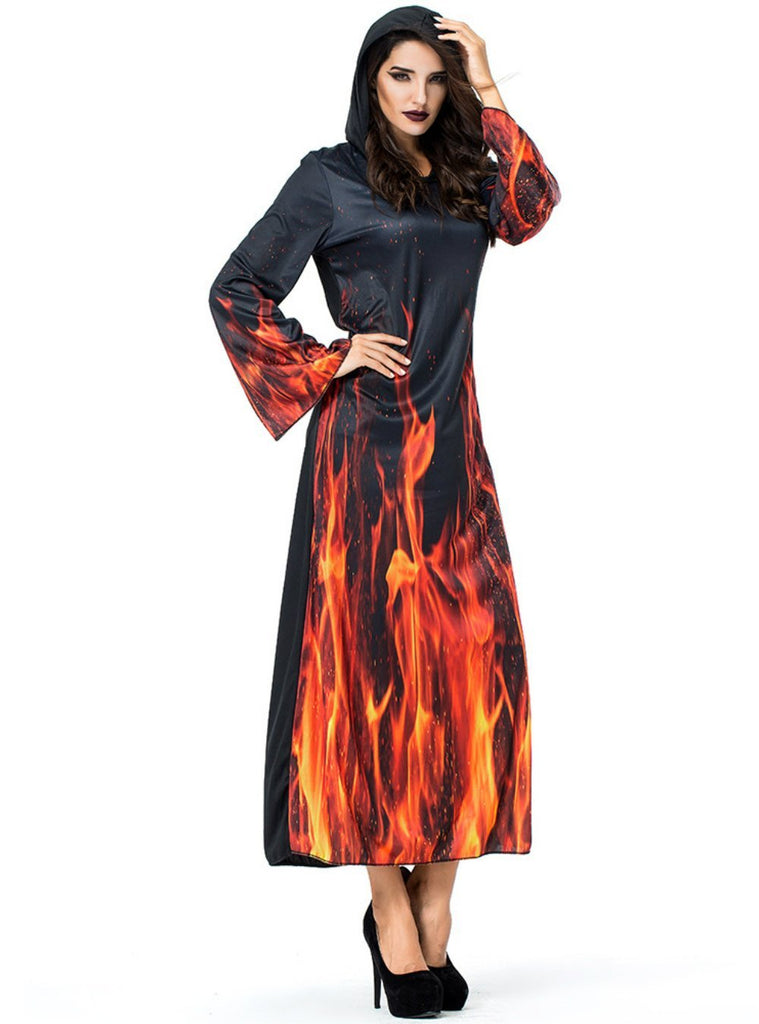 Halloween Hell Flame Devil Costume