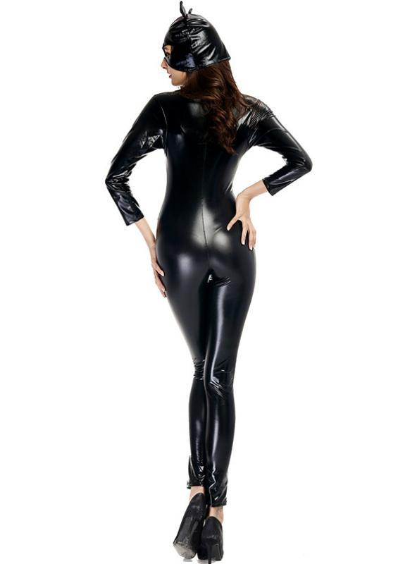 Lacquered Leather Cat Girl Neutral Motorcycle Halloween