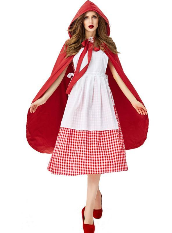 Red Plaid cosplay Little Red Riding Hood Grandma Wolf