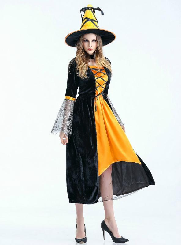 Cosplay Female Black Gauze Witch Dress