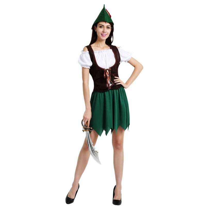 Lady Robin Hood Women's Halloween Costume Sexy Classic Fairy Tale Dress Up