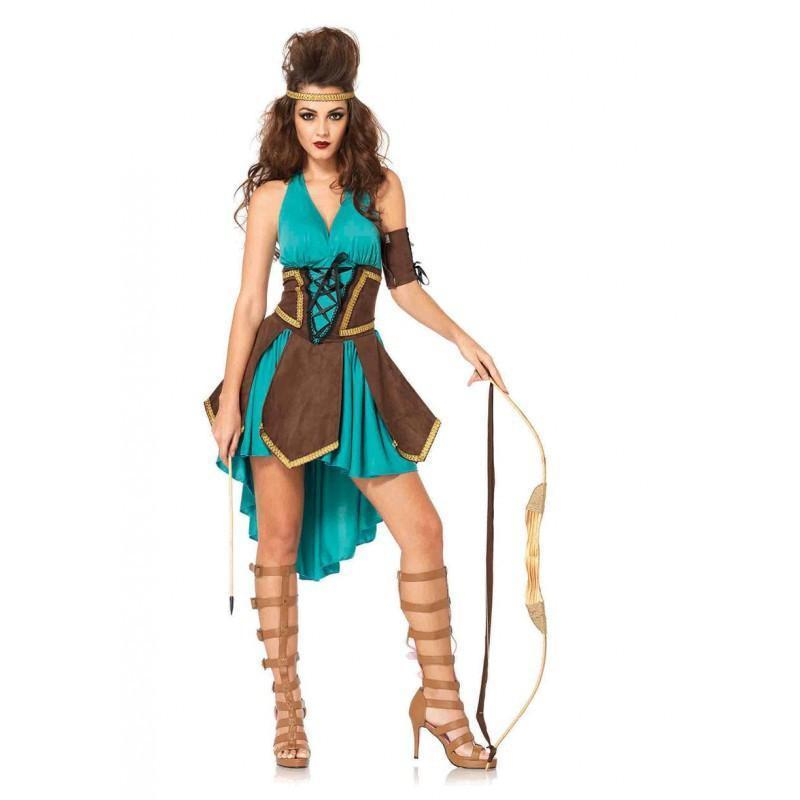 Women's Halloween Costume Tribal Native American Indian Princess Stage Cosplay Outfit