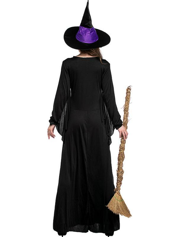 Halloween Party Carnival Purple Witch Cosplay