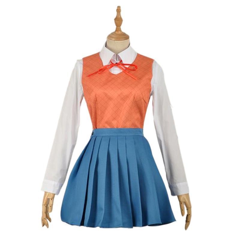 Doki Doki Literature Club Cosplay Costumes Sayori Yuri Natsuki Monika School Uniform