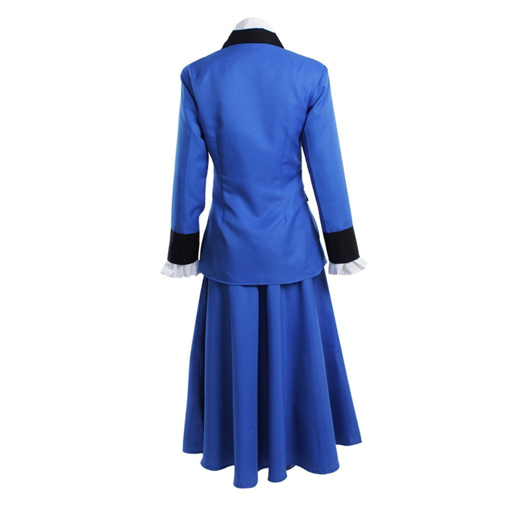 Mary Poppins Cosplay Costume Women Blue Dress Custom Made