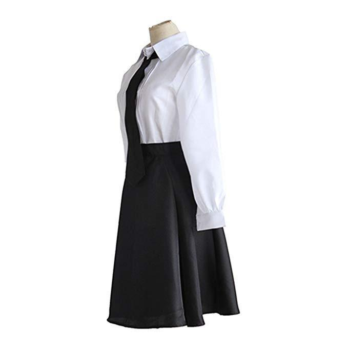 Women Bungou Stray Akiko Yosano Shirt Pleated Skirt High School Uniform Cosplay Costumes