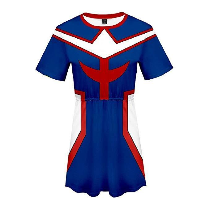Boku No Hero My Hero Academia Skirt All Might Dress Outfit