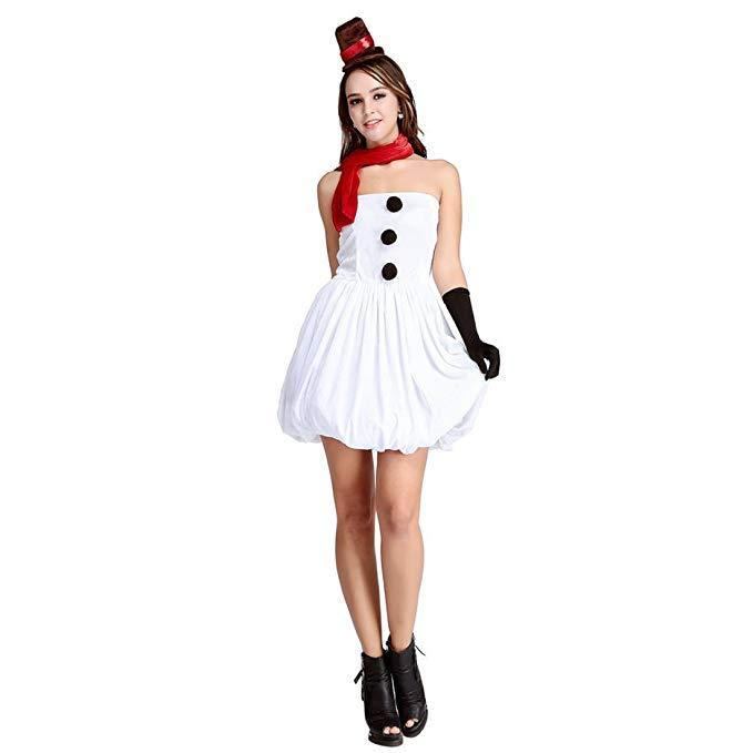Women Christmas Costumes Cosplay Dress Snow White Cute Princess Skirt