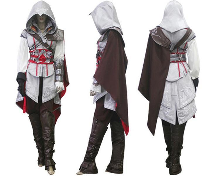 Assassin S Creed 2 Costume Ezio Auditore Cosplay Outfit Female Men Kid Fashionlovehunter