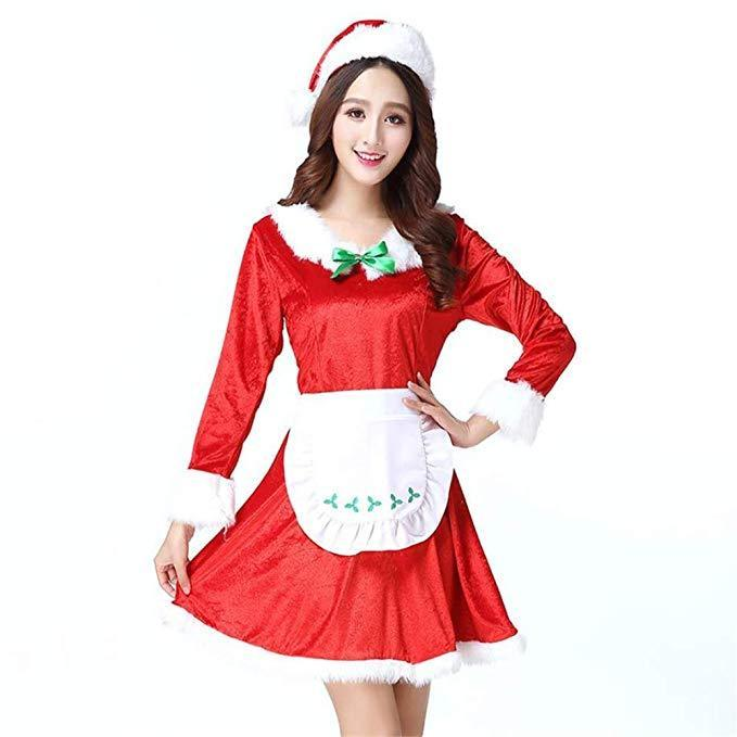 Women Christmas Santa Set Maid's Cosplay Costume