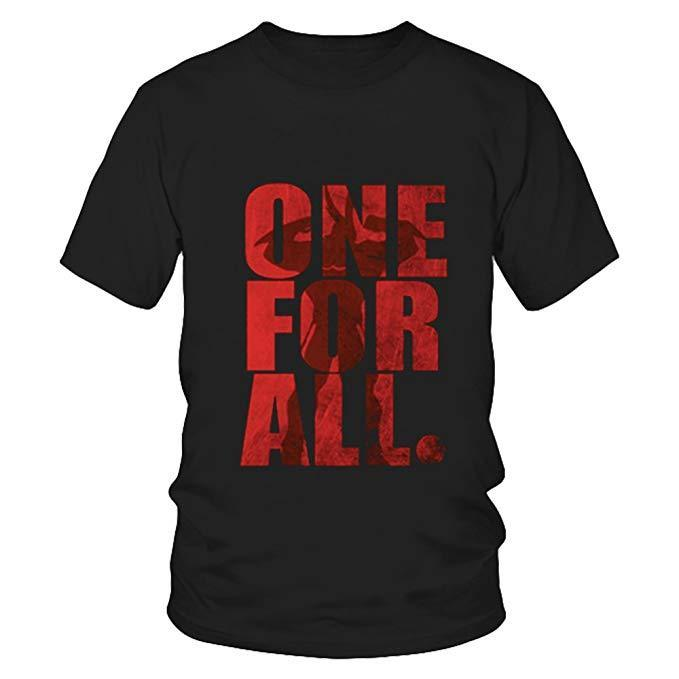 BNHA All Might One for All Shirt Sleeves t-Shirt Summer Cotton Tee
