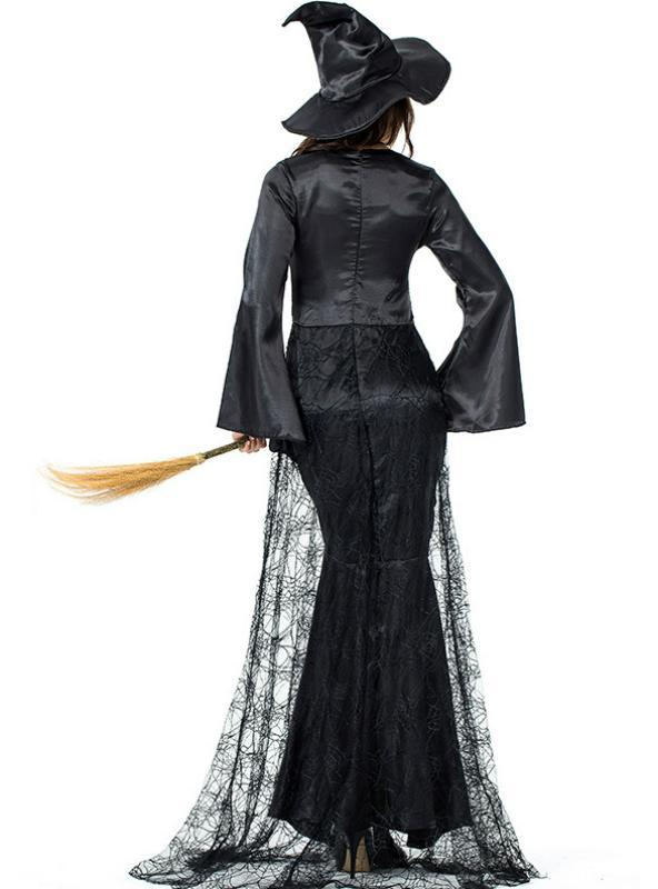 Black Cobweb Witch Role Plays Women Cosplay
