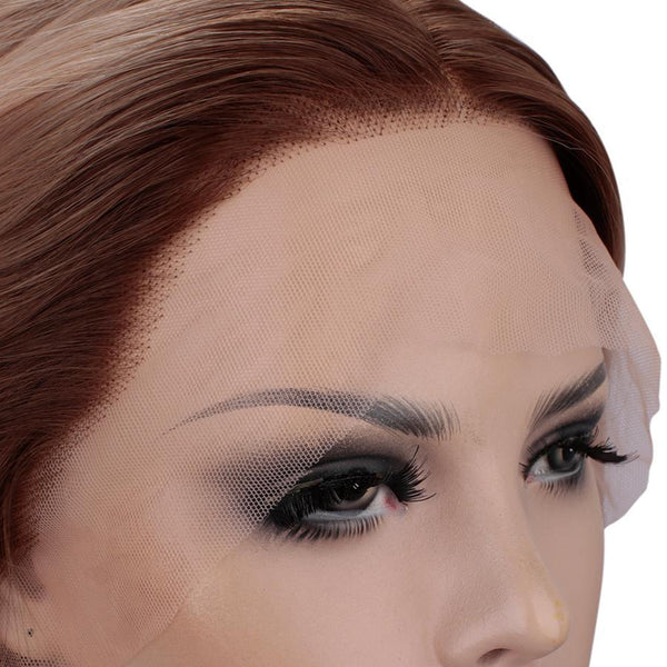 New Orange Wavy Autumn-Winter Synthetic Lace Front Wig