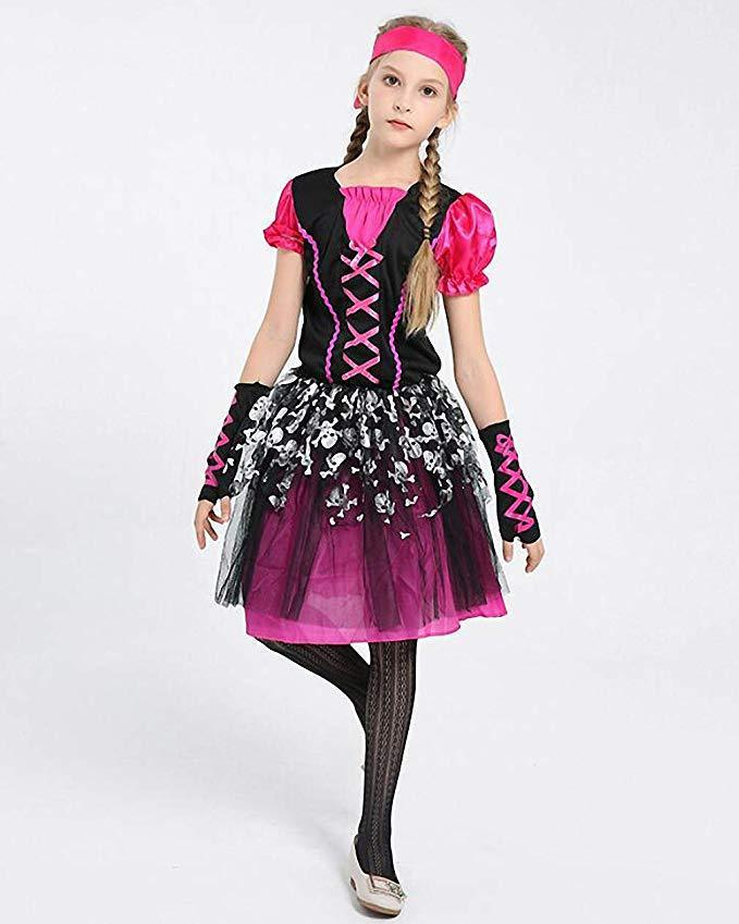 Girls Halloween Costume Pirate Costume Girls Cosplay Halloween Fancy Dress Party Outfit
