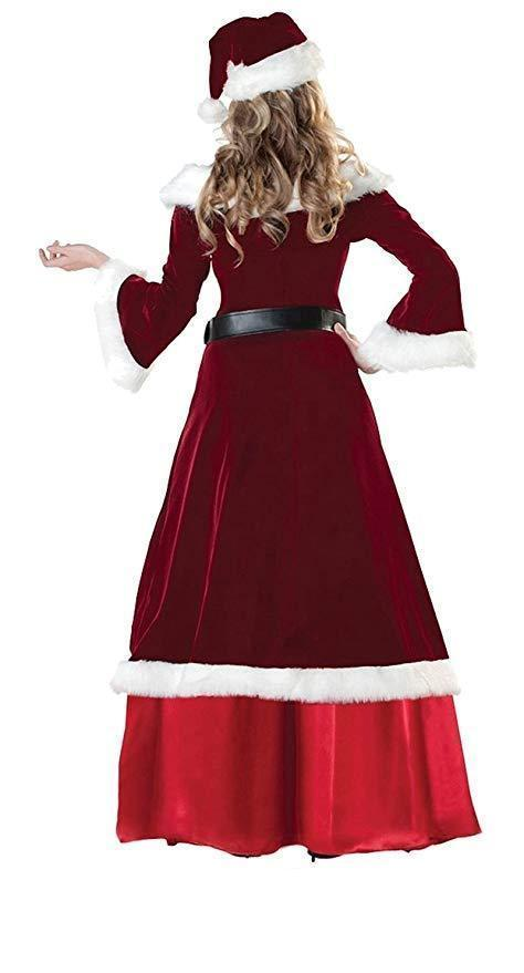Women's Christmas Deluxe Costume Mrs. Claus Clothing Cosplay Suit