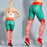 Christmas Leggings for Sport Yoga Fitness Gym Pants Women High Waist Long Trousers