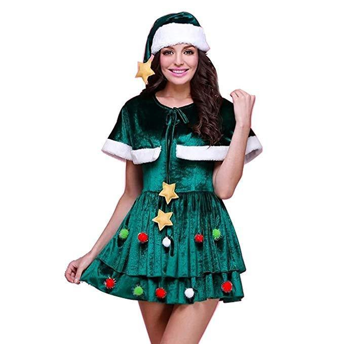 Women Christmas Dress Christmas Tree Costume Dress