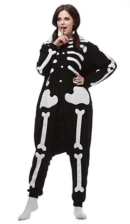 Christmas Adult Pajamas Skull Onesies Cosplay Party Wear