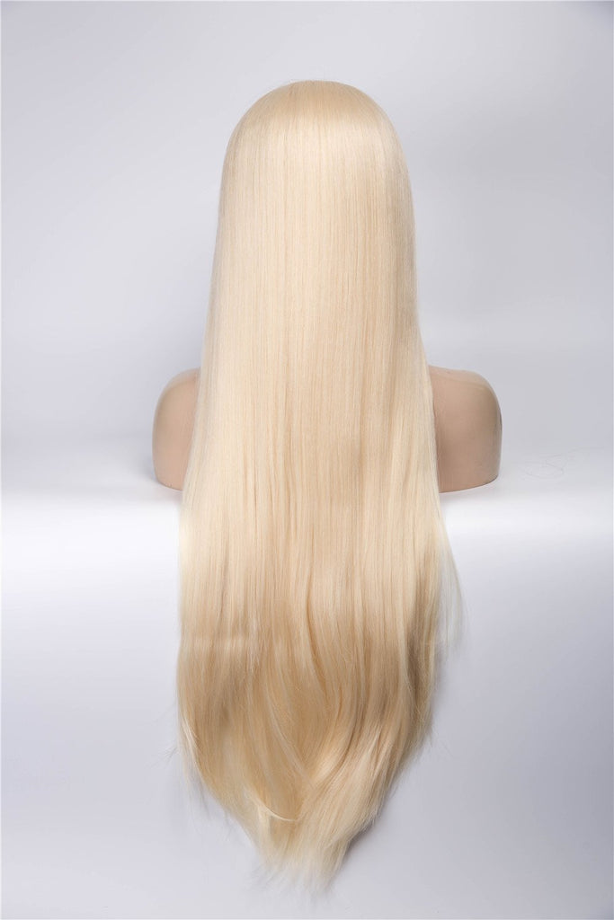 Blonde Long Straight Glueless Lace Front Wigs - Imstylewigs
