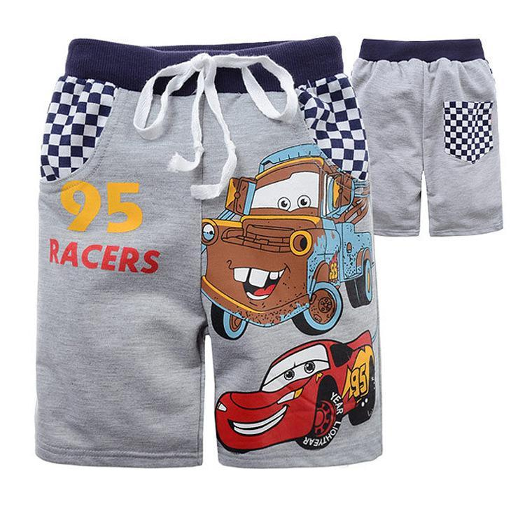 Kids Beach Pants Cars Lightning Mcqueen Pattern Shorts
