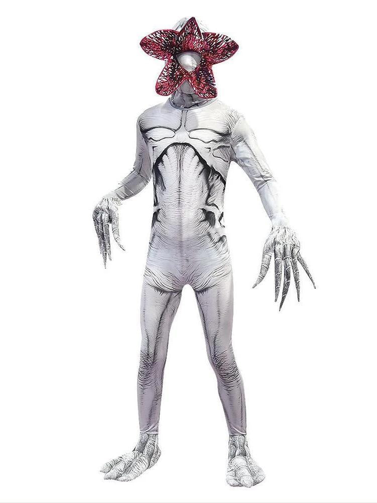 Adults Stranger Things Cosplay Demogorgon Eater Flower Mask Halloween Costume Creepy Clothes