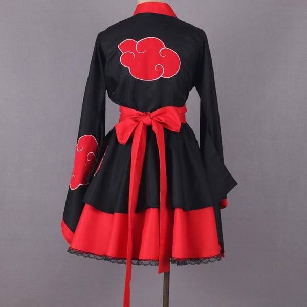 Anime Naruto Shippuden Akatsuki Organization Cosplay Costume Dress Custom Made