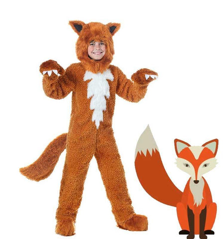 Adult/kids Deluxe Fox Costume