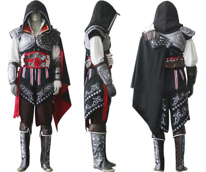 Assassin S Creed 2 Costume Ezio Auditore Cosplay Outfit Female Men Kids Adult