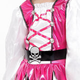Little Girls Pink Pirate Halloween Costume Party Fancy Cosplay Outfit Dress