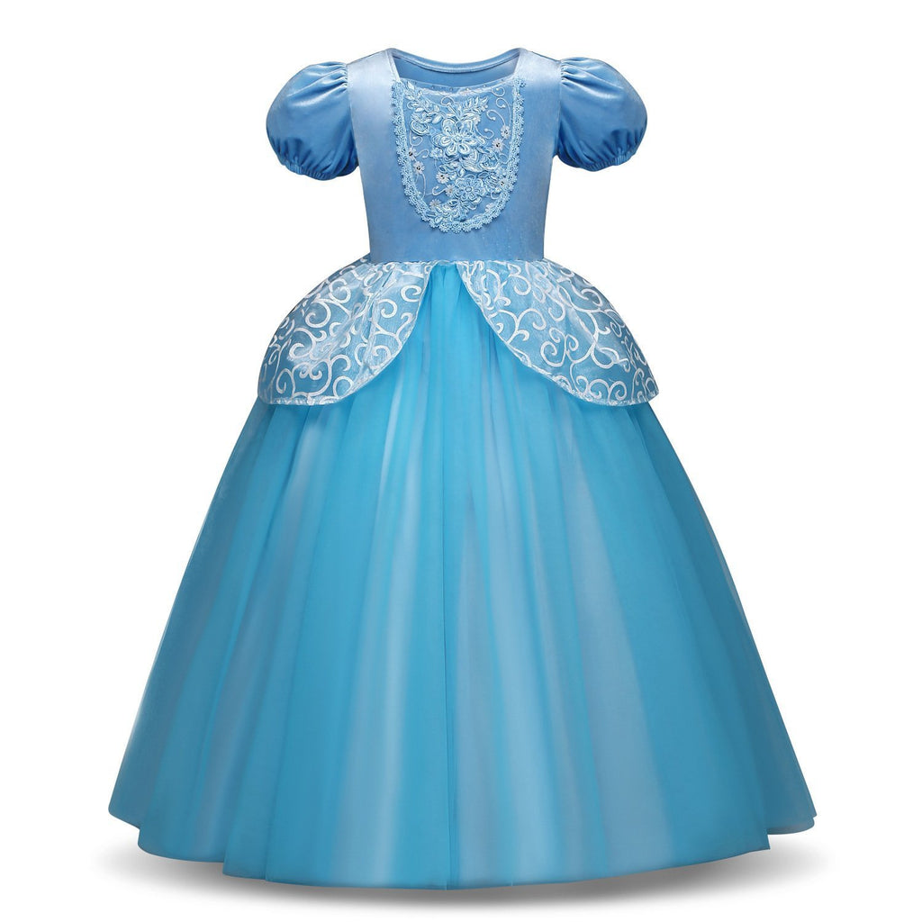 Girls Cinderella Dress Princess Costume Dress up Fancy Party Cosplay Butterfly Dress