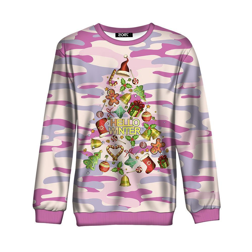 Women Ugly Christmas Sweatshirts 3D Digital Printed Shirts